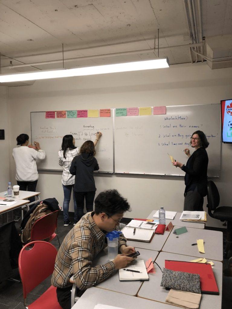 カナダ・バンクーバーの語学学校 授業風景